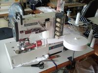 трикотажная плоскошовная трехигольная промышленная швейная машина Сируба с окантователем